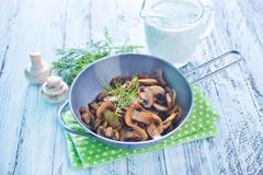 Fried mushroom Stock Photos