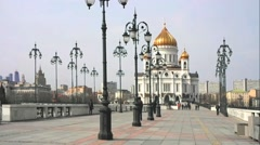 View of the Cathedral of Christ the Savior Stock Footage