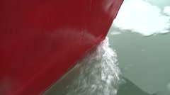 Boat hitting ice, land of fire, sea Stock Footage