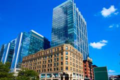 Boston Massachusetts downtown buidings - stock photo