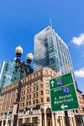 Boston in Massachusetts downtown buidings - stock photo