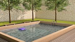 private pool - stock illustration