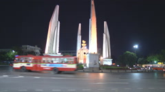Democracy Monument at Bangkok in Thailand Stock Footage