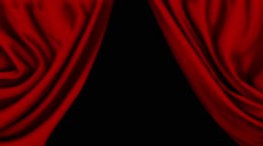 Red Curtains Close Quickly - stock footage