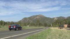 Travel around Rocky Mountain National Park, Colorado Stock Footage