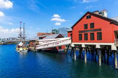 Boston Tea Party in Massachusetts - stock photo