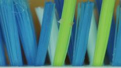 4K - Dirty toothbrush closeup Stock Footage