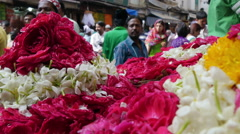 Islam in India, flower shop, religion, Muslims, religious, selling - stock footage