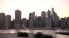 NYC Skyline from Brooklyn Stock Footage