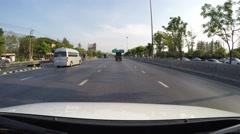 4K driving on motorway Stock Footage