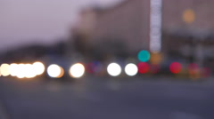 Fires of headlights of cars on city street. 4K (3840x2160)    Stock Footage