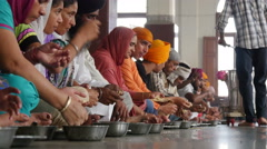 Golden Temple communal kitchen, Amritsar, India Stock Footage