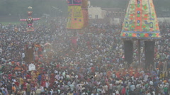 People gather for Dussehra festivities in Amritsar, India Stock Footage