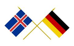 Flags, Germany and Iceland - stock illustration