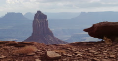Canyonlands National Park Wilhite Trail Overlook Stock Footage