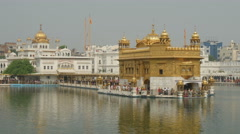 Golden Temple in Amritsar, India, Sikh religion, sacred, holy, structure Stock Footage