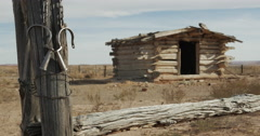 Wild West Ghost Town Outlaw Hideout with Prisoner Chains Stock Footage