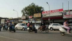 Busy traffic in Amritsar, India Stock Footage