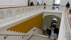 Staircase at the Stedelijk Museum Stock Footage