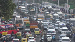 Traffic jam in Bangalore during rush hour, 'IT capital of India' Stock Footage