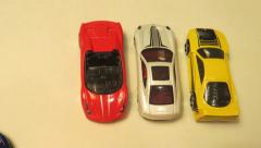 Toy cars time lapse Stock Footage