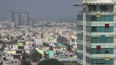 Bangalore, India, office towers, apartment buildings, technology hub Stock Footage