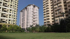 Apartment compex in Bangalore, India - stock footage