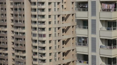 Residential apartment buildings in Bangalore, India Stock Footage
