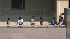 Bangalore, India, office workers take a break from work Stock Footage