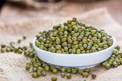 Heap of Mung Beans - stock photo