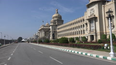 India, Karnataka state legislature building, Vidhana Soudha - stock footage