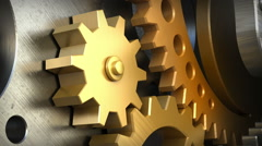 Close up clockwork mechanism or a machine inside.  Loop  animation Stock Footage