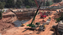 Construction site in Bangalore, India Stock Footage