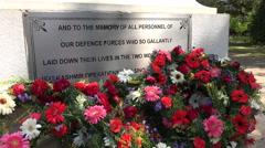 Memorial to fallen soldiers in a park in Bangalore, India Stock Footage