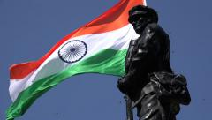 Stock Video Footage of India, war memorial for fallen soldiers, nationalism, flag, remembering