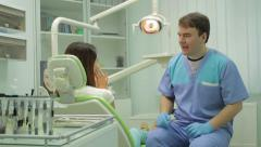Dialogue between patient and doctor - stock footage