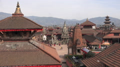 Bhaktapur Durbar Square, Nepal tourism, architecture, temples, famous - stock footage