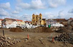 Union square (Unirii Square) in Timisoara, Romania Stock Photos