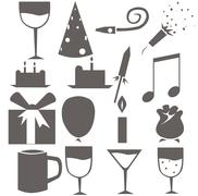 Icons for the celebration of Christmas Stock Illustration