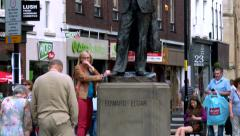 Worcester UK Elgar Statue - stock footage