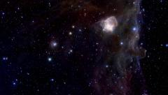 Space section, enlargement of a general view of nebula - stock footage