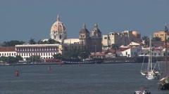 Cartagena Columbia Harbour Stock Footage