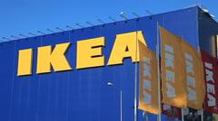 Stock Video Footage of IKEA Samara Store.