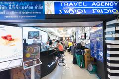 travel agency in Bangkok - stock photo