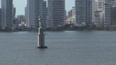 Cartagena Harbour Statue Stock Footage