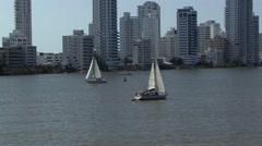 Cartagena Columbia South America Harbour Stock Footage