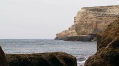 Black Sea Coast Of Picturesque Cape Tarkhankut in Crimea Stock Footage