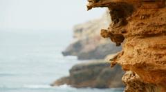 Limestone Rocks of Cape Tarkhankut At Black Sea Stock Footage