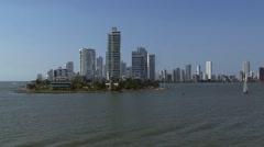 Cartagena Columbia Coastline Stock Footage