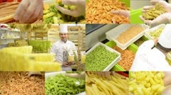 4K montage (compilation) - dried pasta in containers - chef smiles to camera Stock Footage